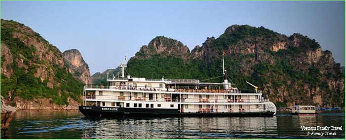 2DAYS 1 NIGHT HALONG BAY CRUISES WITH EMERAUDE CRUISER